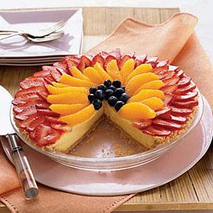 NoBake BerryOrange Cheesecake Pie recipe for managing PCOS and